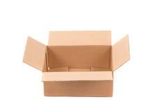 Sluit omhoog van lege doos Stock Afbeelding
