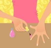 Sluit omhoog van manicure Royalty-vrije Stock Foto's