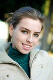 Sluit omhoog van meisje het glimlachen Royalty-vrije Stock Afbeelding