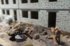 Sluit omhoog van Miniatuurwereld Stock Afbeelding