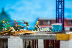 Sluit omhoog van Miniatuurwereld Royalty-vrije Stock Afbeelding