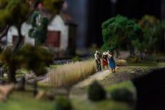 Sluit omhoog van Miniatuurwereld Stock Foto's