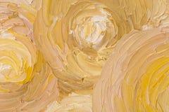 Sluit omhoog van mooi abstract olieverfschilderij Royalty-vrije Stock Foto's