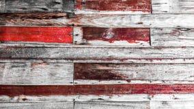 Sluit omhoog van muur van uitstekende houten planken wordt gemaakt die stock foto