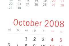 Sluit omhoog van Oktober 2008 Stock Fotografie