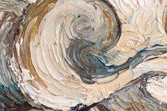 Sluit omhoog van olieverfschilderij stock afbeeldingen