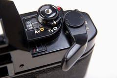 Sluit omhoog van oude klassieke 35mm slrcamera Royalty-vrije Stock Fotografie
