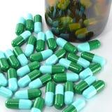 Sluit omhoog van pillen Stock Afbeelding