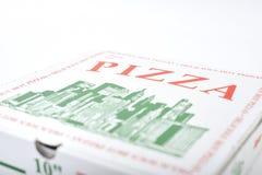 Sluit omhoog van pizzadoos Royalty-vrije Stock Afbeelding