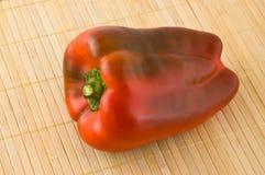 Sluit omhoog van rode groene paprika Stock Foto
