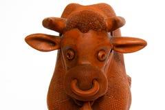 Sluit omhoog van rode stier Royalty-vrije Stock Fotografie