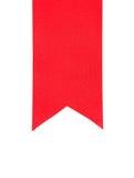 Sluit omhoog van rood lint Royalty-vrije Stock Afbeeldingen