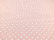 Sluit omhoog van roze met witte stipachtergrond Royalty-vrije Stock Afbeelding
