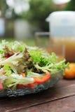 Sluit omhoog van Salade Stock Foto's