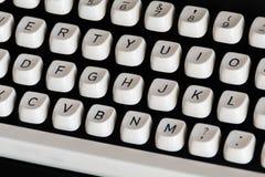 Sluit omhoog van schrijfmachinesleutels Royalty-vrije Stock Fotografie