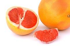 Sluit omhoog van secties van grapefruit Stock Afbeelding