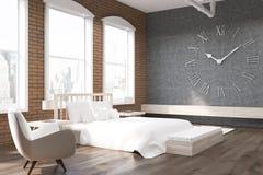 Slaapkamer Met Grote Klok En Leunstoel In New York Stock Illustratie ...