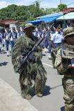 Sluit omhoog van sluipschutters van de Strijdkrachten van Panama in een Parade royalty-vrije stock fotografie
