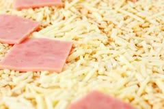 Sluit omhoog van smakelijke pizza Stock Foto
