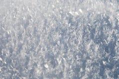 Sluit omhoog van sneeuw Royalty-vrije Stock Afbeeldingen
