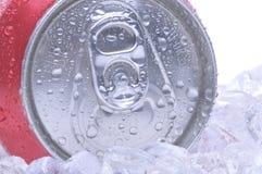 Sluit omhoog van Soda kan stock foto