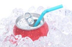 Sluit omhoog van Soda kan royalty-vrije stock foto's