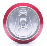 Sluit omhoog van Soda kan bedekken royalty-vrije stock foto's