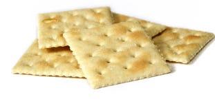 Sluit omhoog van soepcrackers stock foto's