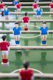 Sluit omhoog van Spelers in het Team van de Lijstvoetbal royalty-vrije stock afbeelding