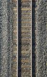 Sluit omhoog van spoorwegspoor Royalty-vrije Stock Foto's