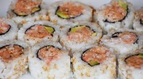 Sluit omhoog van Sushi Stock Afbeelding