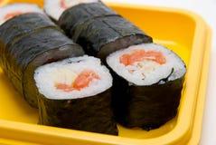 Sluit omhoog van sushibroodje Stock Foto