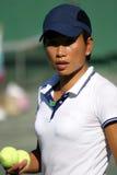 Sluit omhoog van tennisspeler Royalty-vrije Stock Foto's