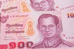 Sluit omhoog van Thais geld Stock Fotografie