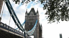 Sluit omhoog van Torenbrug, Londen stock footage