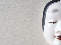 Sluit omhoog van Traditioneel Japans theatermasker Stock Afbeelding