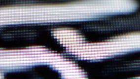 Sluit omhoog van TV tonen Televisiepixel stock footage