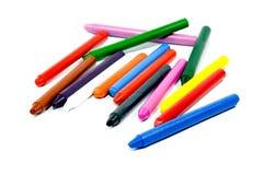 Sluit omhoog van veelkleurige kleurpotloodpotloden Royalty-vrije Stock Foto