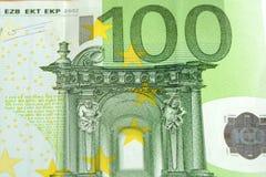 Sluit omhoog van vele Europese honderd euro Royalty-vrije Stock Foto