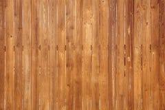 Sluit omhoog van verticale houten omheining Stock Foto