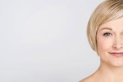 Sluit omhoog van vrij medio vrouw Royalty-vrije Stock Afbeelding
