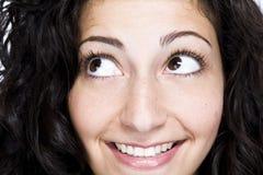 Sluit omhoog van vrouwen het glimlachen Royalty-vrije Stock Foto