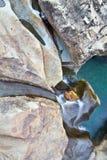 Sluit omhoog van waterval Royalty-vrije Stock Foto's