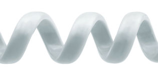 Spiraalvormig telefoonkoord Stock Foto