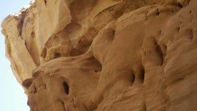 Sluit omhoog van woestijncanion stock footage