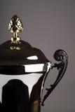 Sluit omhoog van zilveren trofee Royalty-vrije Stock Foto's