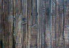 Sluit omhoog van zwarte oude houten muurtextuur Royalty-vrije Stock Afbeelding