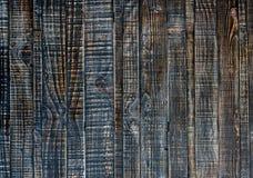 Sluit omhoog van zwarte oude houten muurtextuur Stock Foto