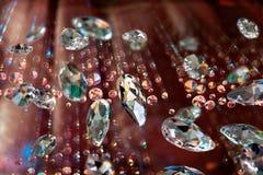 Fonkelende diamanten Stock Afbeeldingen