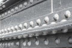 Sluit omhoog vastgenageld staal royalty-vrije stock foto's